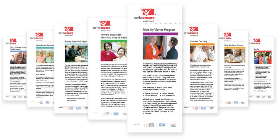 Berks Encore, series of eight cards/brochures