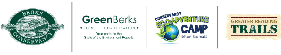Berks Nature, Original Berks Conservancy, Green Berks, Conservancy Eco-Adventure Camp and Greater Reading Trails Logos