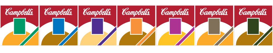 Campbell's Soup Line, seven designs for packaging line
