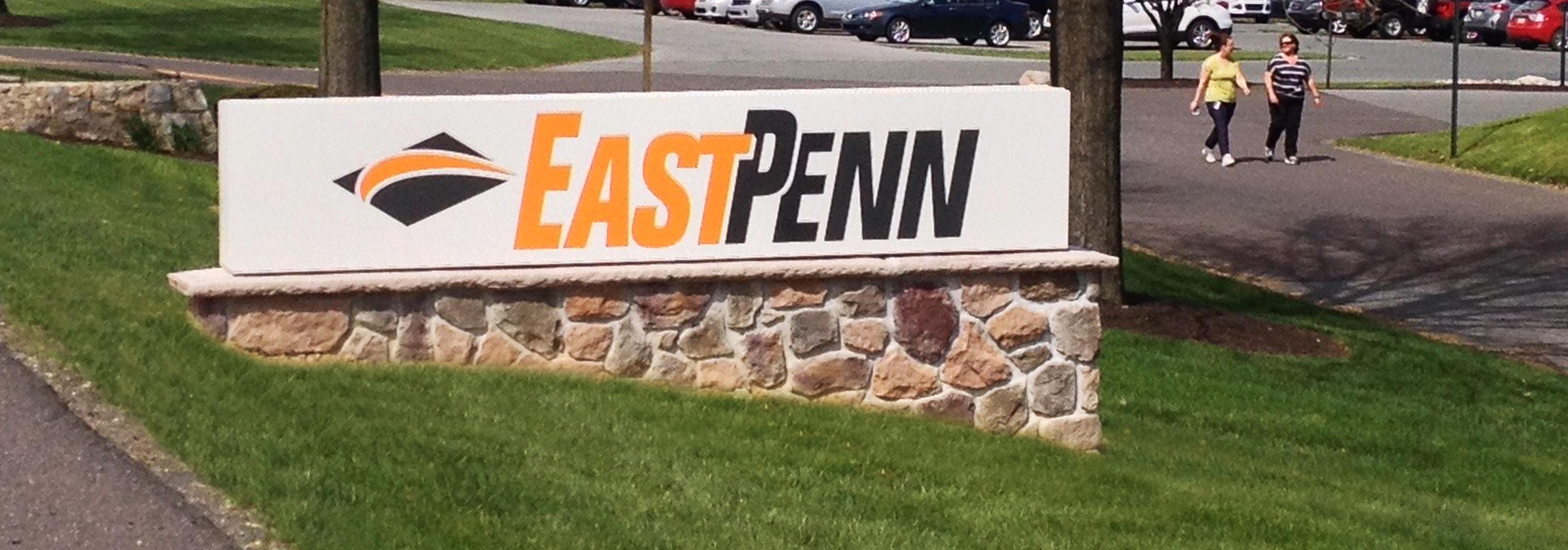 East Penn Manufacturing Logo Headquarters Signage, orange and black