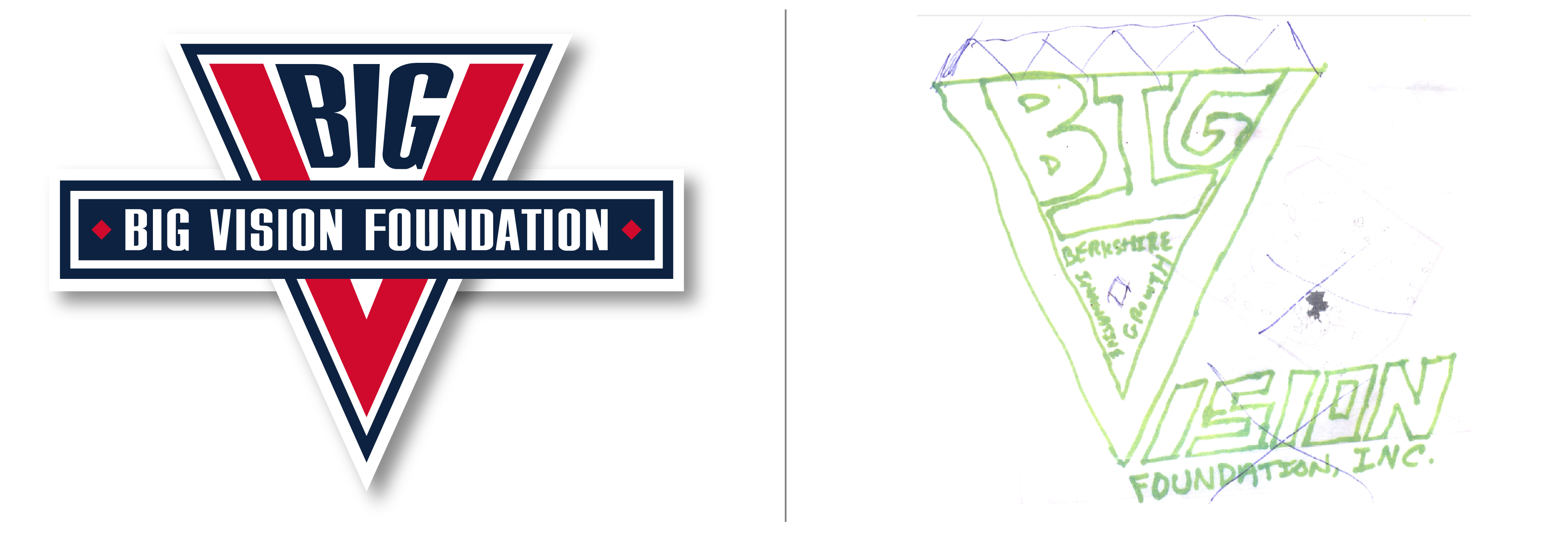 BIG Vision Logo with Brand Client Sketch