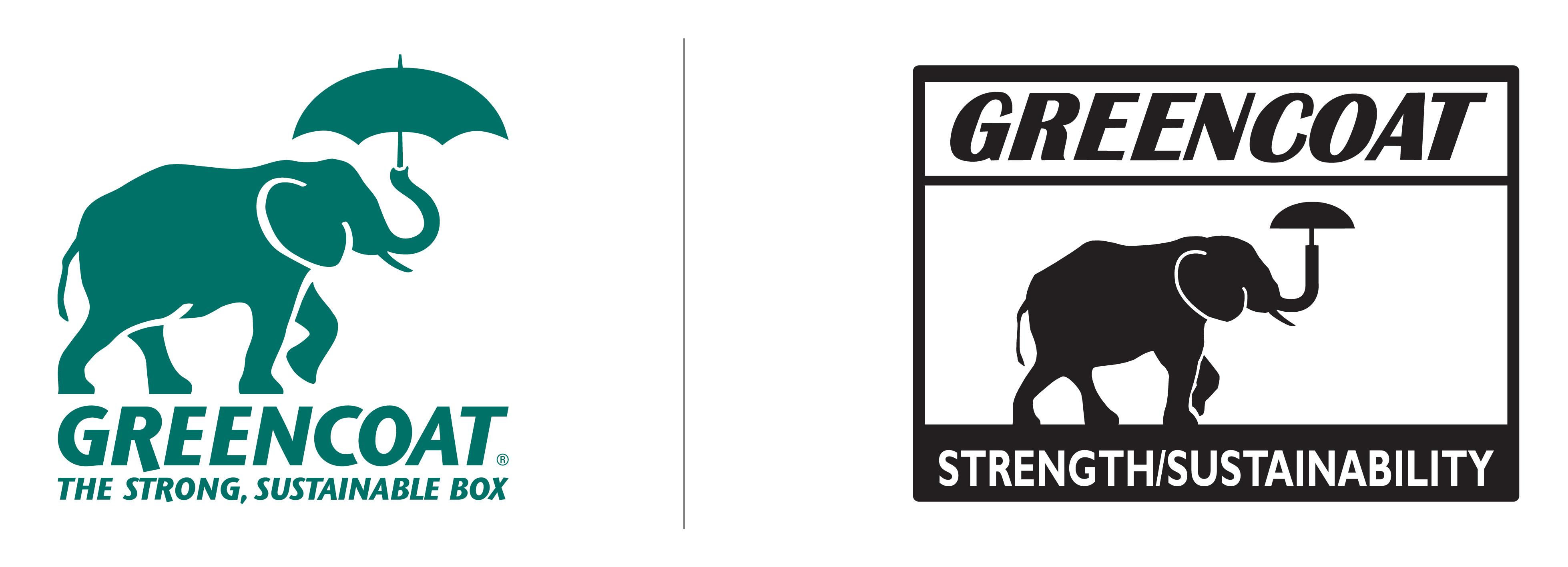 Greencoat Brand Logo, New and Old