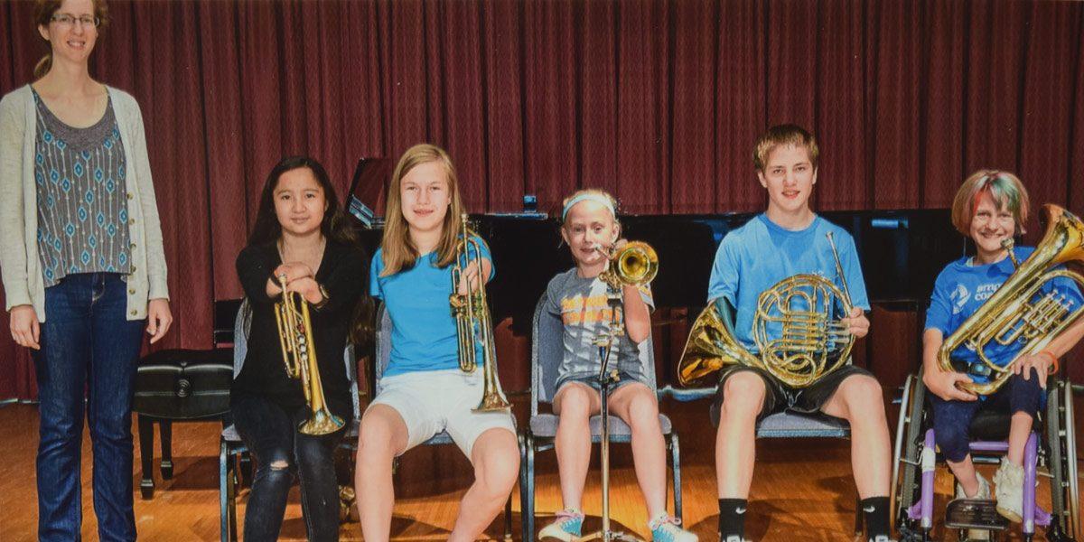 Adaptive Music Camp Participants