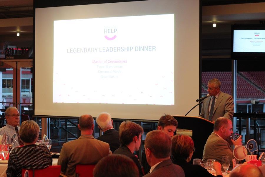 Thom Brennaman presenting at May We Help's Legendary Leadership Gala 2016