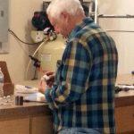 Bill working on Batter Up Machine
