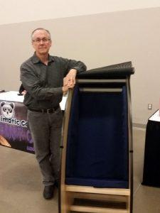 Bob Woolf with May We Help Sensory Chair