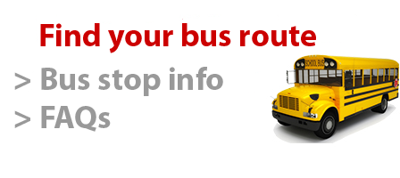 Click here to find your bus route and get frequently asked questions answered