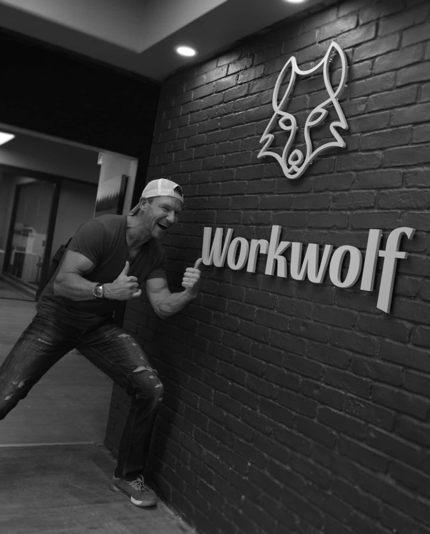 Erik Simins at Workwolf's headquarters
