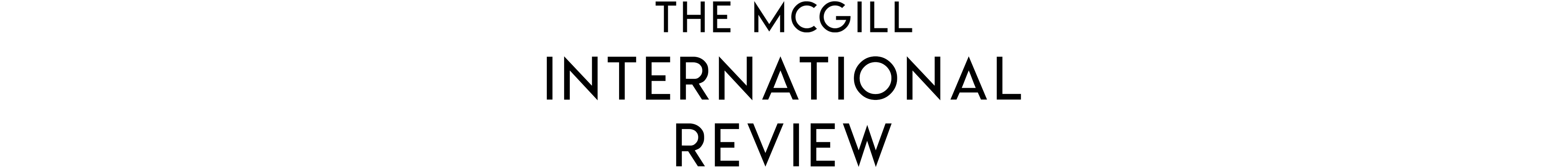 The McGill International Review