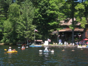 A fourth of July tradition on seventh Lake.