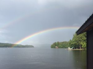 Henry Hallowell point of view. There is a double rainbow.