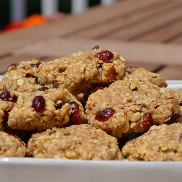 Cranberry Walnut Oatmeal Energy Cookies