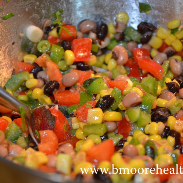 Citrus bean salad with a side of mama hormones.