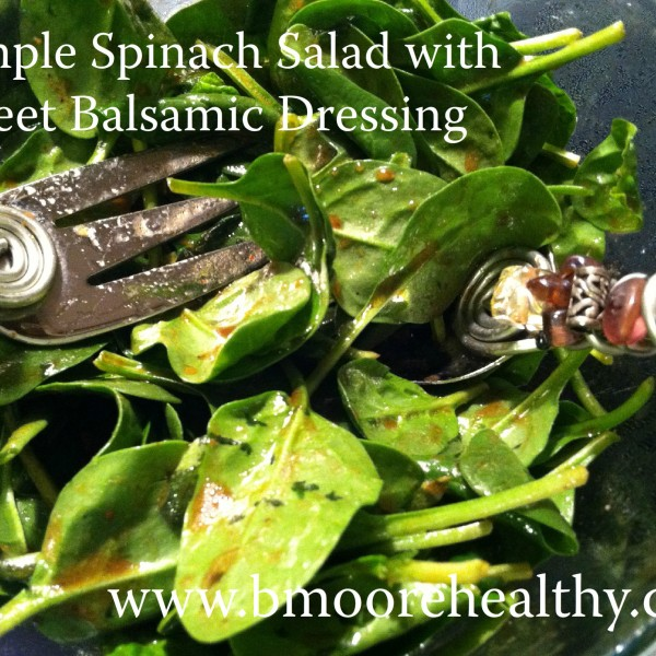 Sleep, schedules and a simple spinach salad.