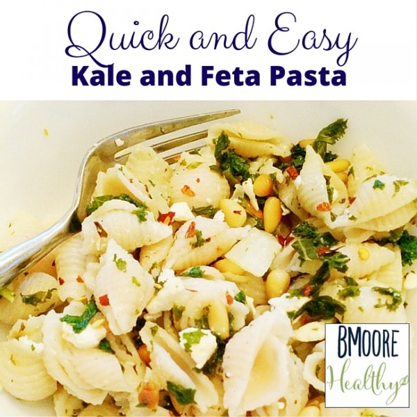 Quick and Easy Kale and Feta Pasta