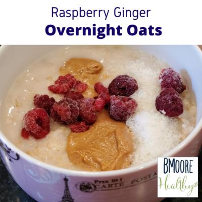 Raspberry Ginger Overnight Oats