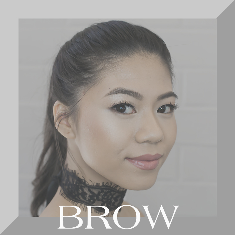 Girl with beautiful brows