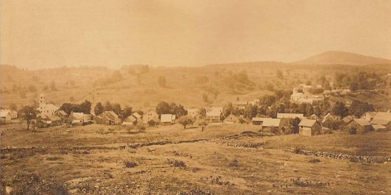 Village of Weston VT 1906 old picture