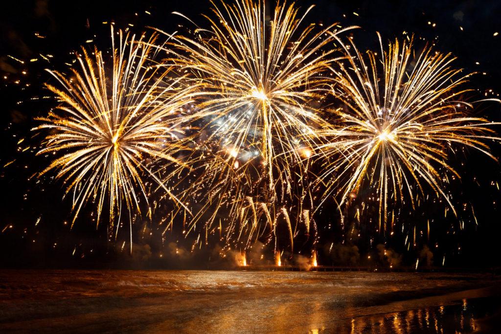 fireworks celebrating wine awards