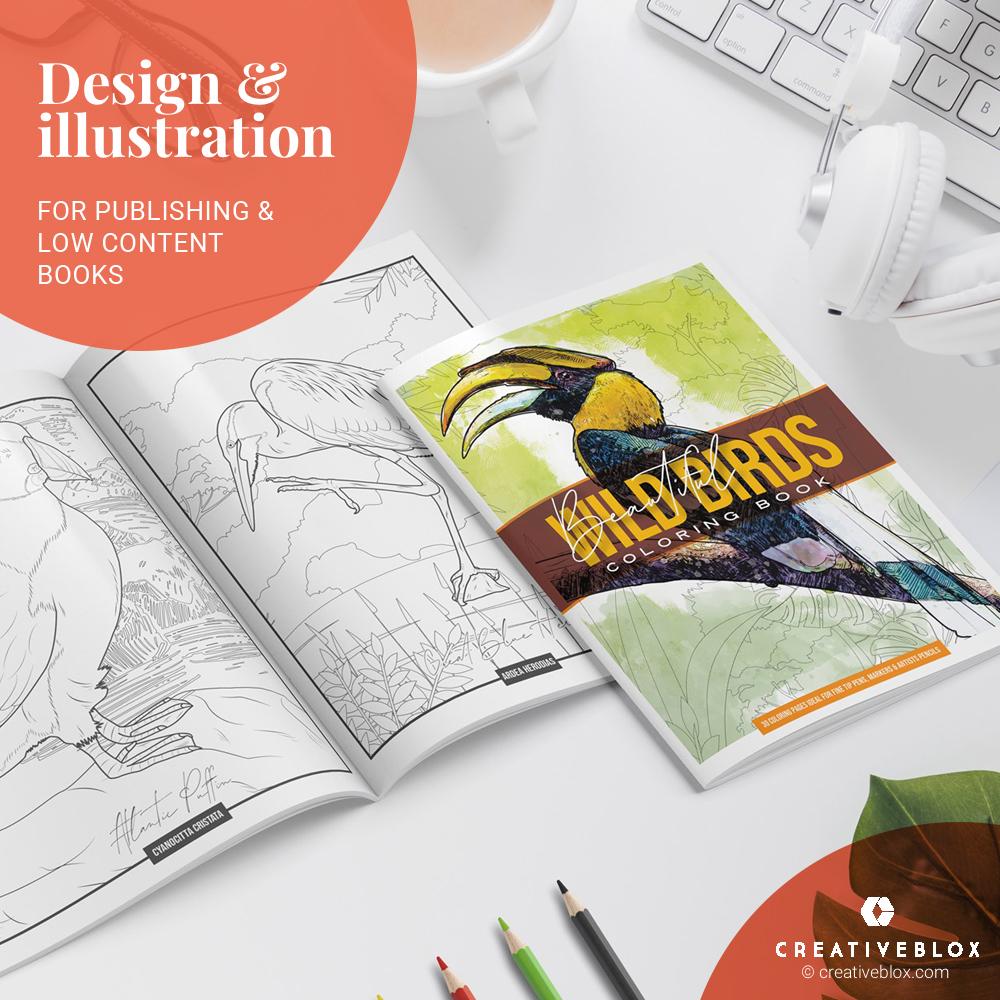 Wild Birds KDPbooks Illustration