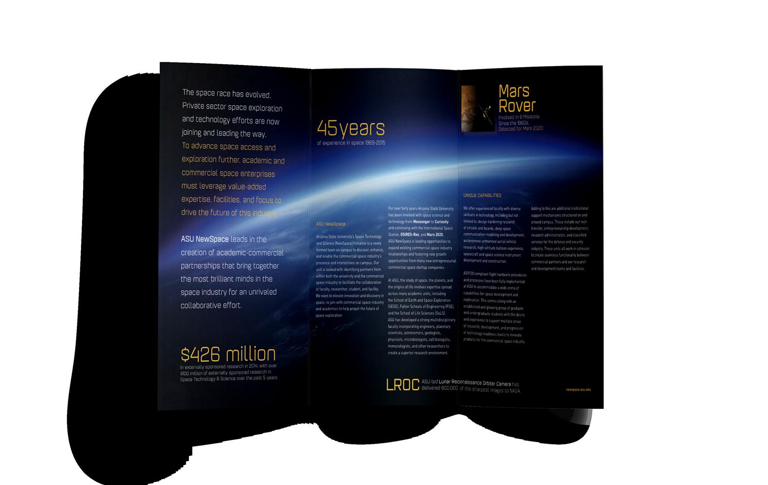 B2B design asu newspace brochure back