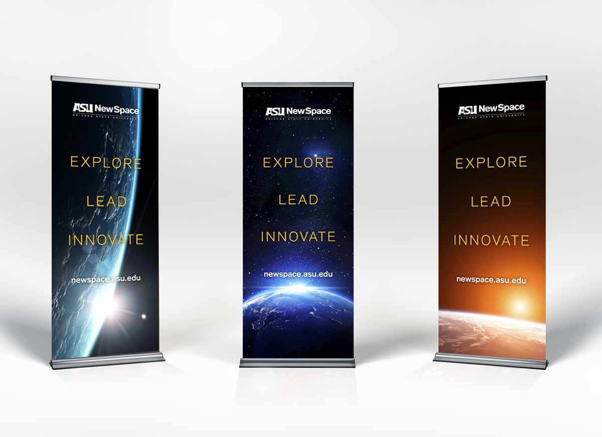 B2B design asu newspace banners