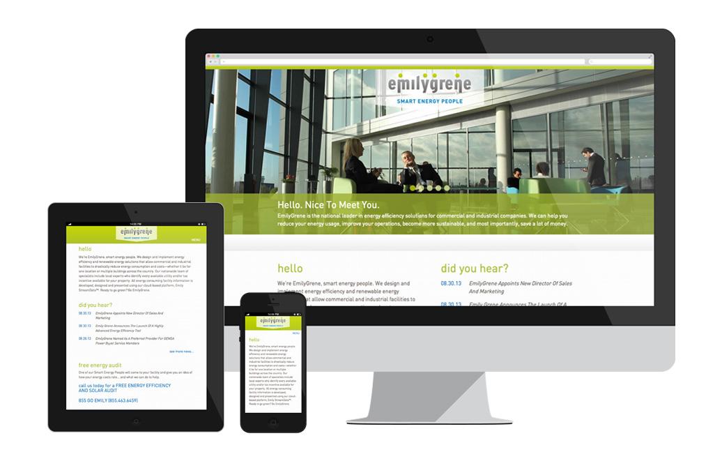 emilygrene Energy Solutions Identity / website