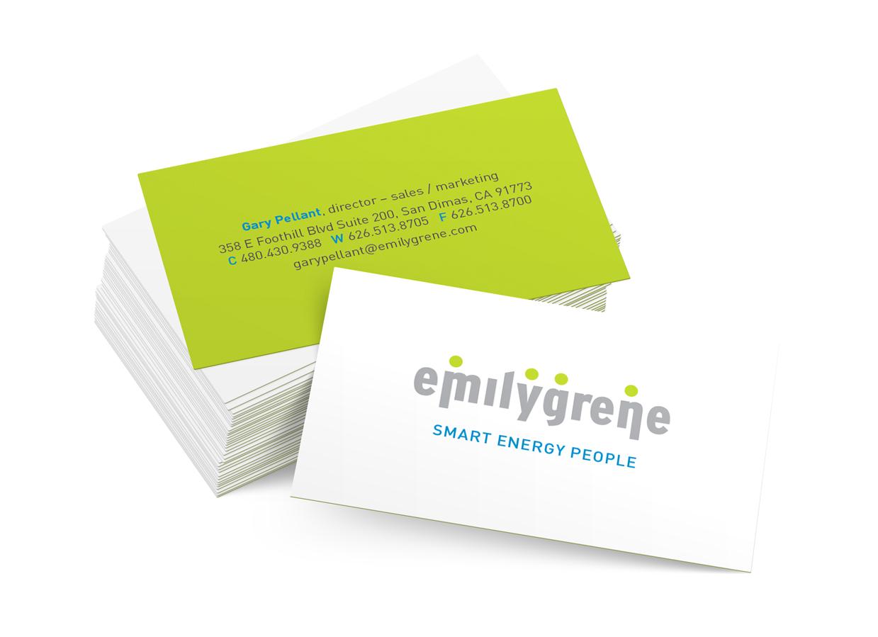 emilygrene Energy Solutions Identity / business card