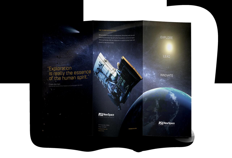 B2B design asu newspace brochure