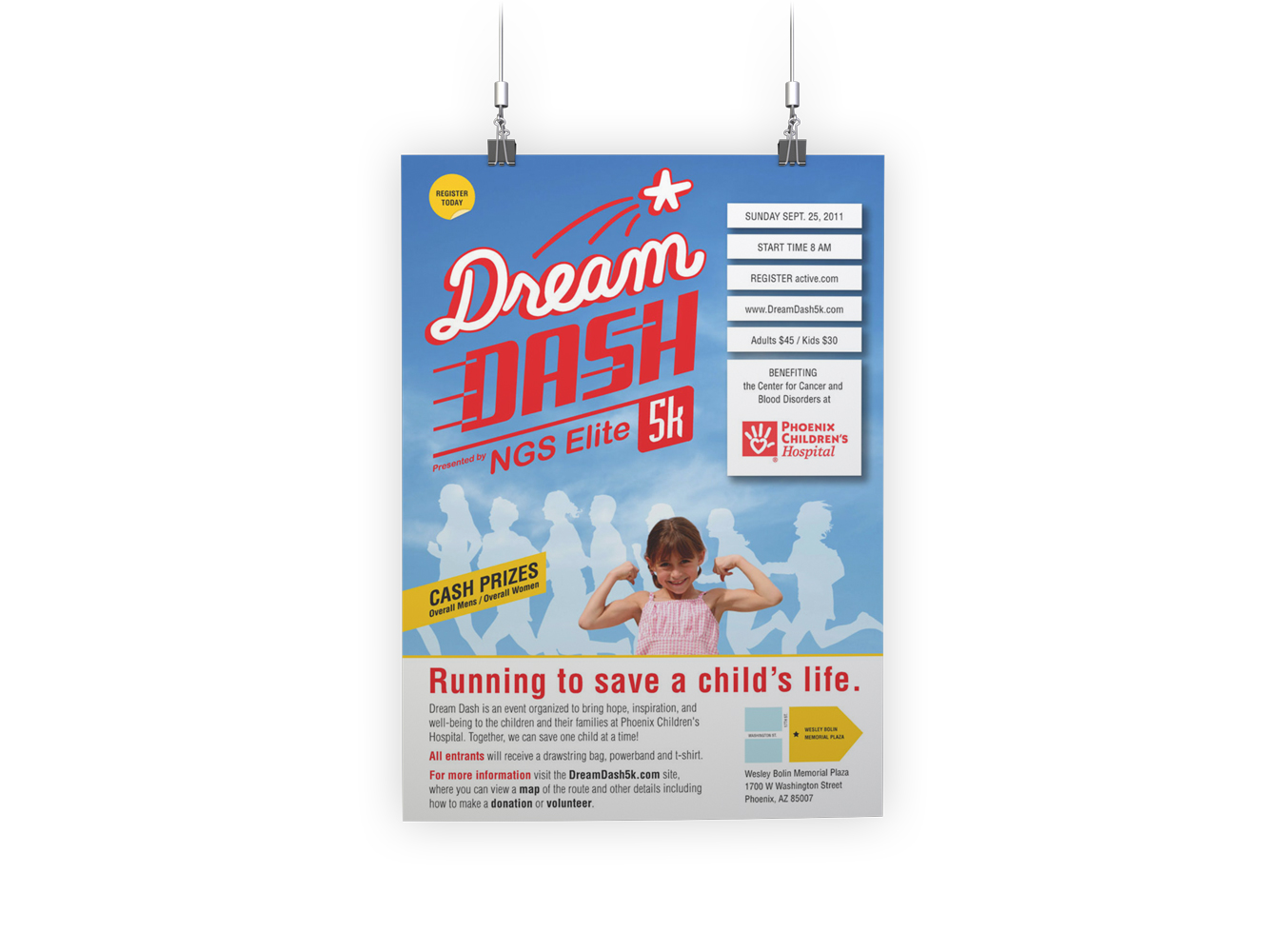 Dream Dash - identity design - Poster