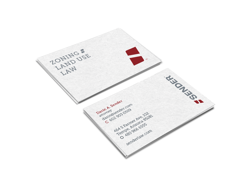 sender rebrand business cards