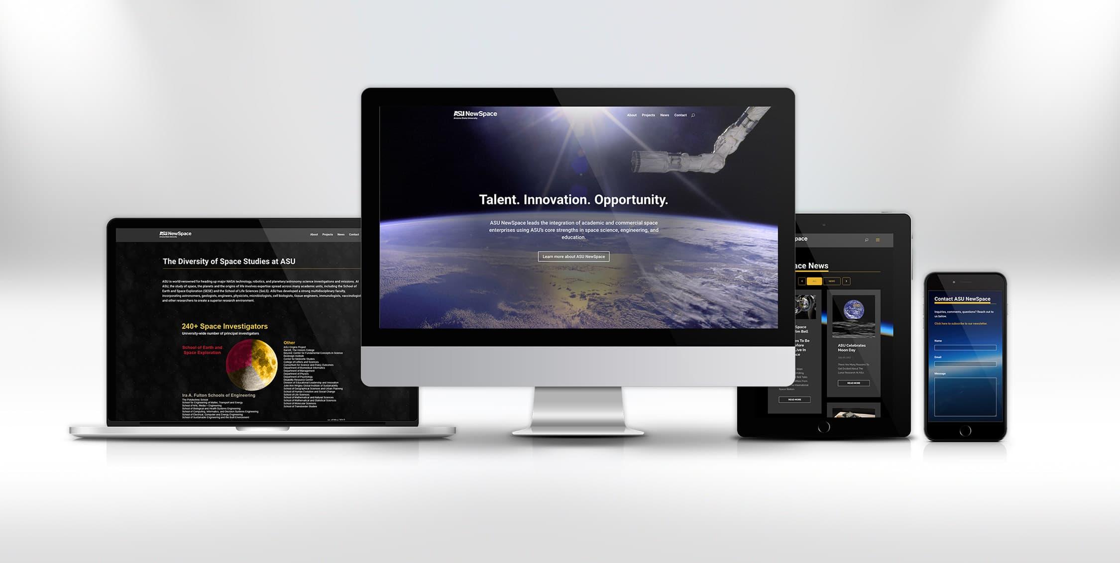 B2B design asu newspace website
