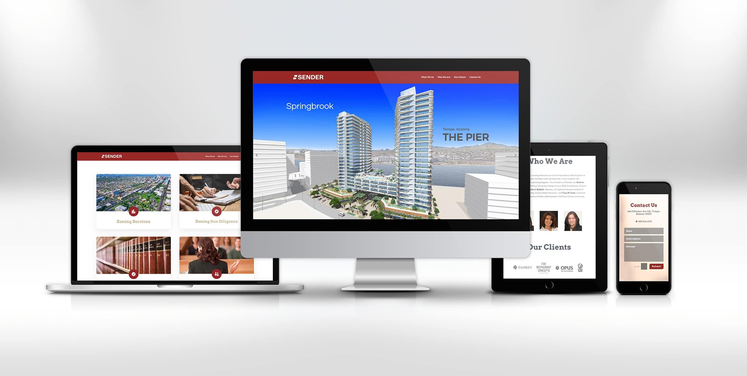 sender rebrand website