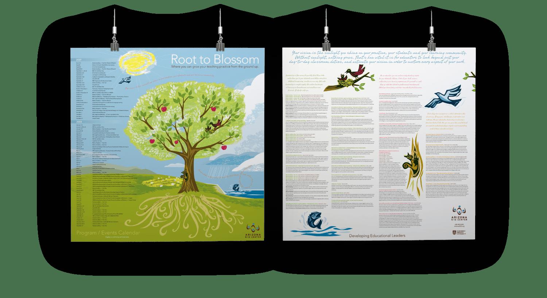azk12 center Calendar and Poster Design