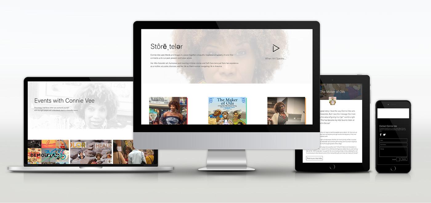 connie-vee website redesign