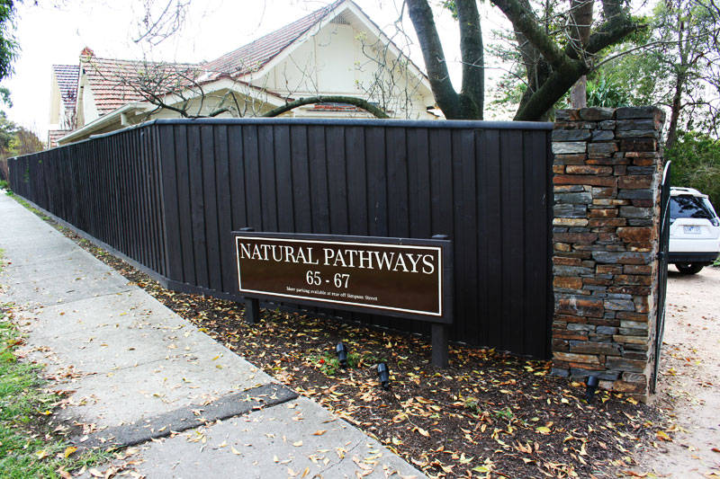 Natural Pathways Entrance