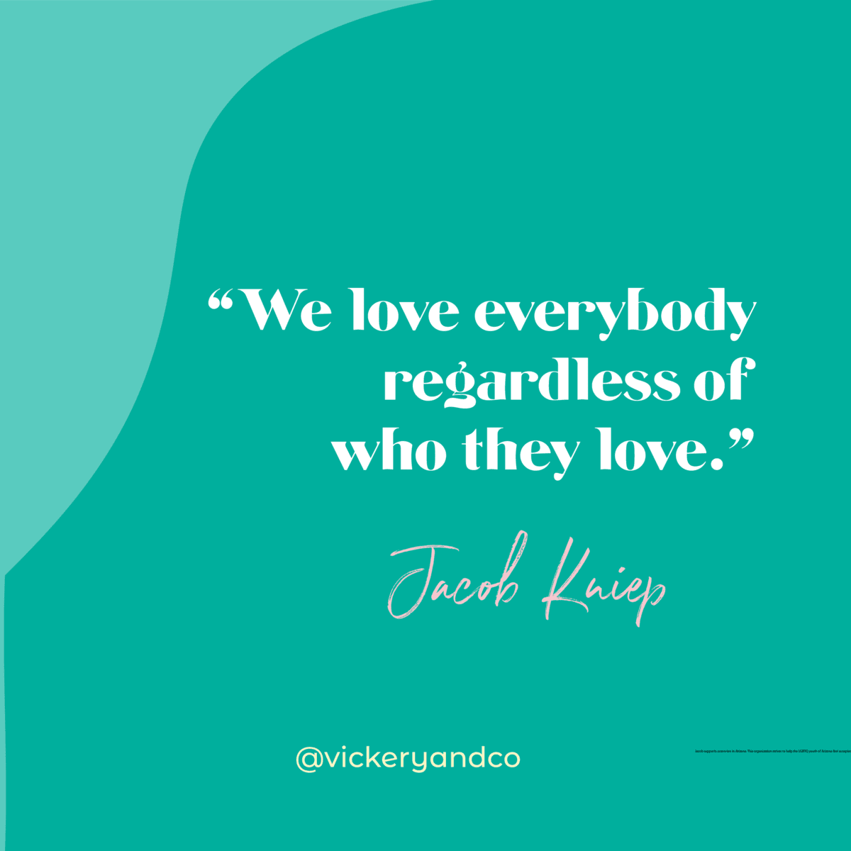 We love everybody regardless of who they, Jacob Kniep, Ep. 168 Unconditional Leadership