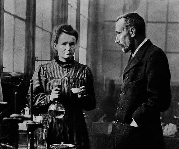 Portrait of Marie Curie and Pierre Curie