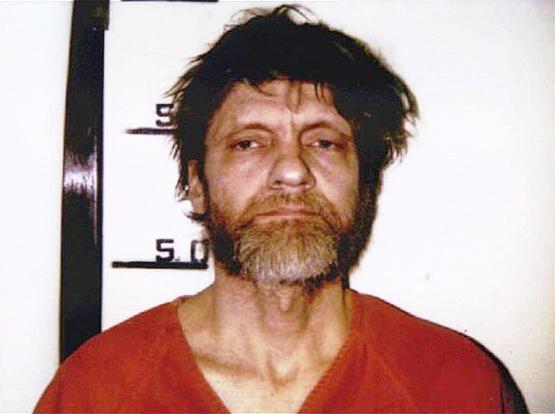 Booking photo of Theodore Kaczynski