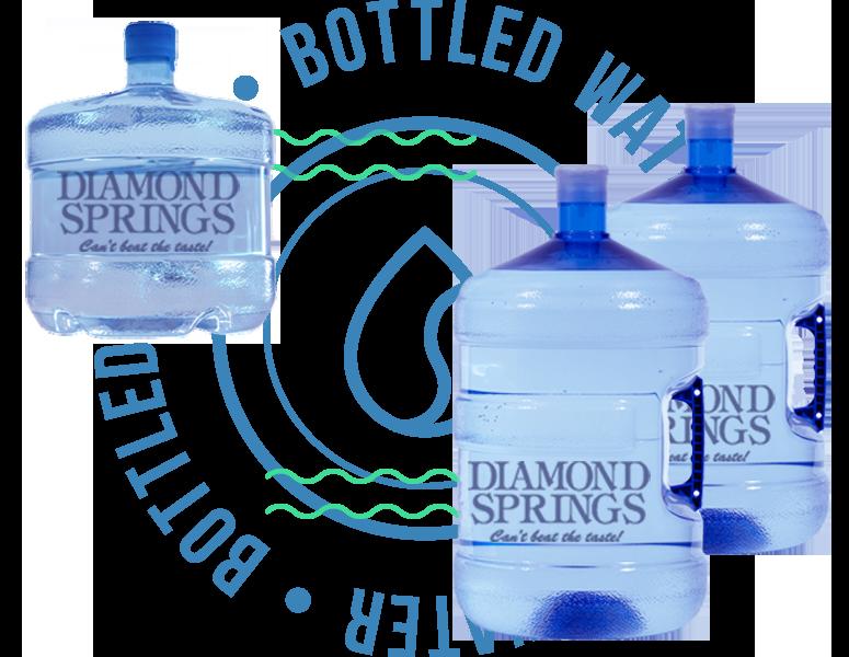 diamond springs 3 gallon 5 gallon water  bottles