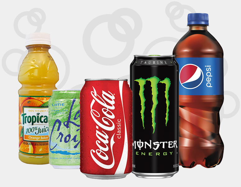 Pantry soda pops, juice, energy drinks, and more for your home or office