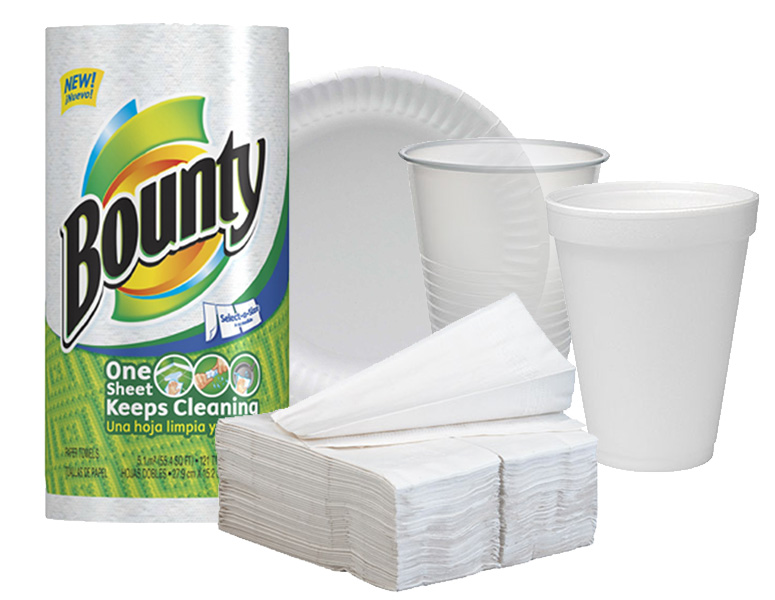 Paper products for your pantry and/or office breakroom