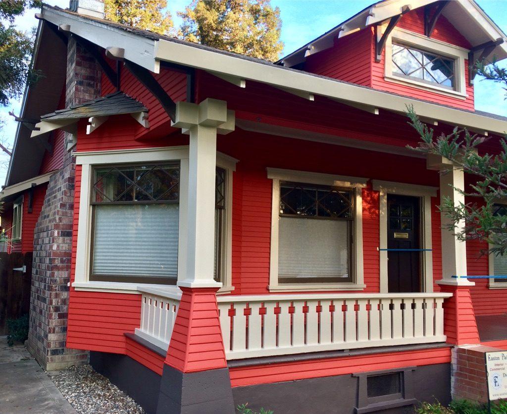 Historic Craftsman restoration painting Woodland CA Easton Painting