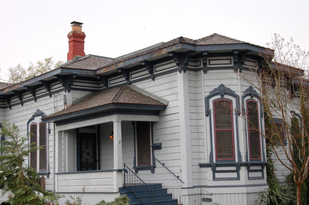Victorian historic house painting restoration Woodland CA Easton Painting