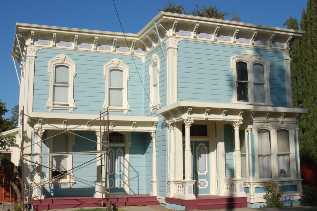 Victorian home painting and restoration by Easton Painting Woodland CA