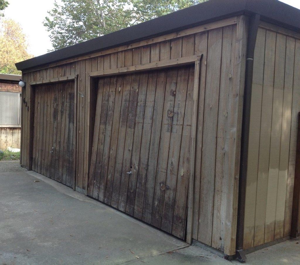 Wooden Garage Door Restoration Woodland CA Easton Painting 01