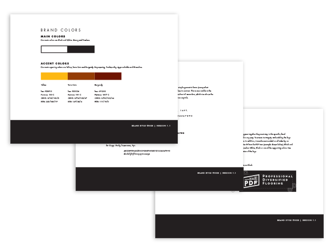 PDF brand style guide