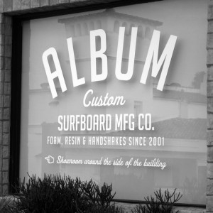 Album front window reflecting Miramar Theater