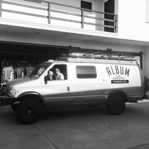 Album Surfboards van at San Clemente headquarters
