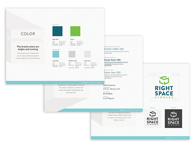RightSpace storage brand style guide